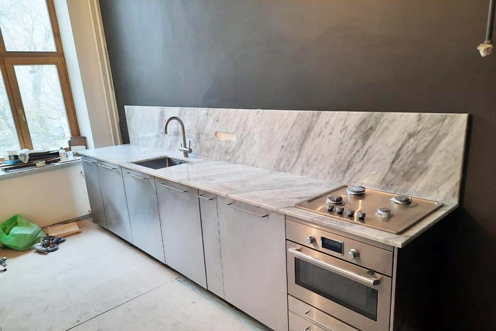 Кухонная столешница Bianco Carrara Gioia